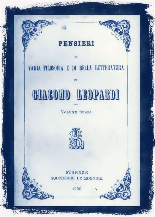 Pensieri di varia filosofia e di bella letteratura di Giacomo Leopardi