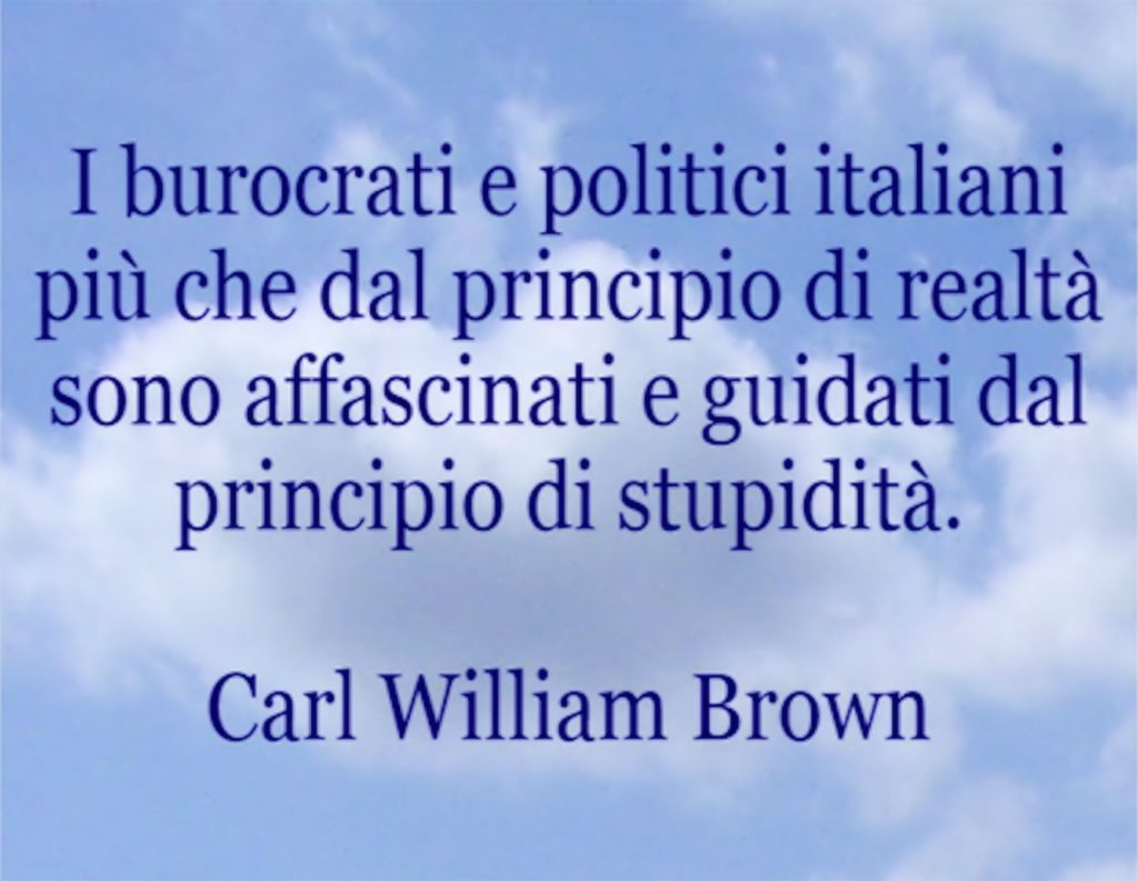 Aforismi per immagini di Carl William Brown