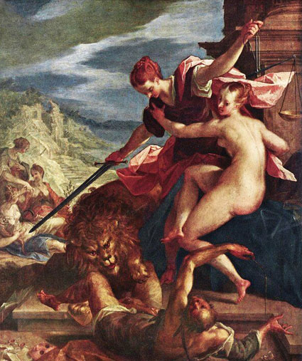 Hans- Von-Aachen-Allegory or The Triumph of Justice-1598