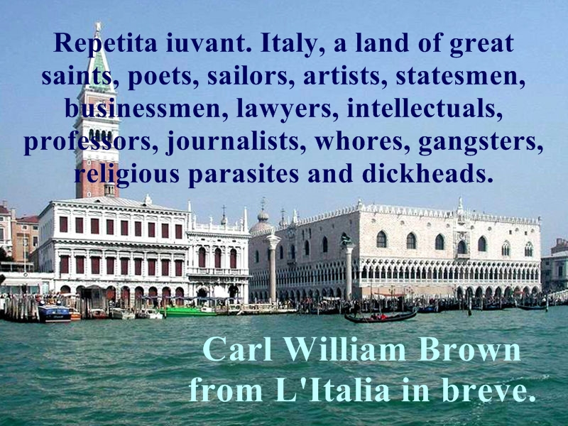 L'Italia in breve. Un libro per tutti. By Carl William Brown