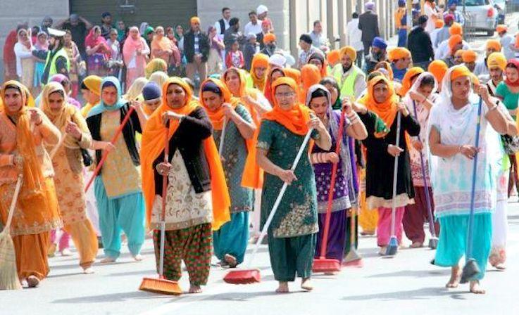 Festa religiosa Sikh a Brescia Lombardy Italy