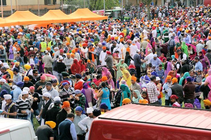 Festa Sikh a Brescia Lombardia Italia