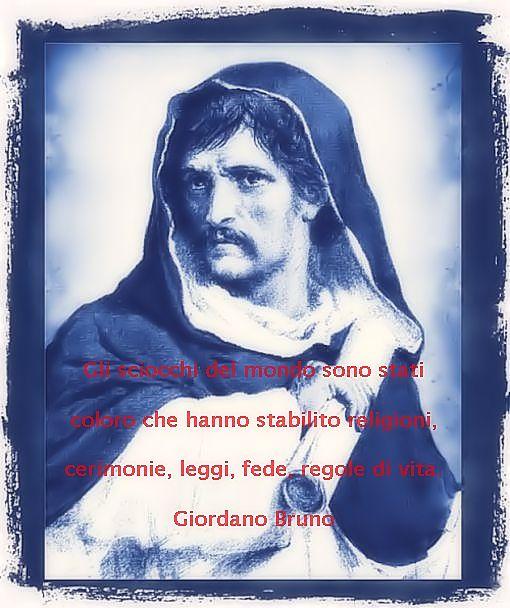 Riflessioni e pensieri di Giordano Bruno