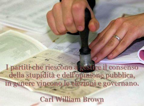 Aforismi sulle elezioni di C.W. Brown