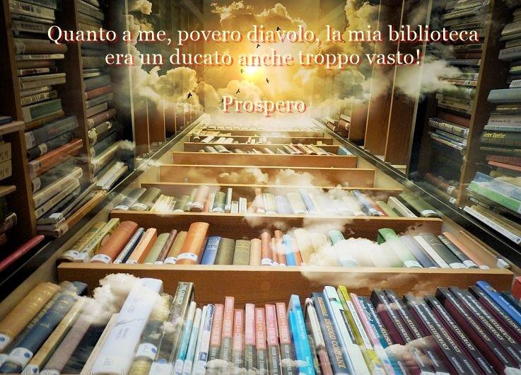 Quanto a me, povero diavolo, la mia biblioteca era un ducato anche troppo vasto!