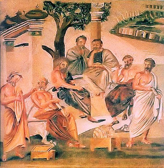 Platone con alcuni studenti