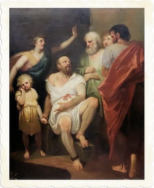 Aristotele con altri filosofi
